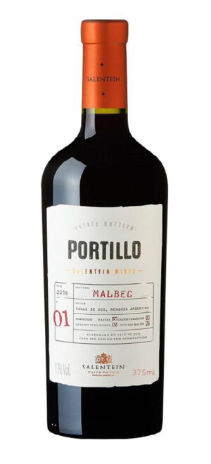 vinho portillo malbec 375 ml meia garrafa
