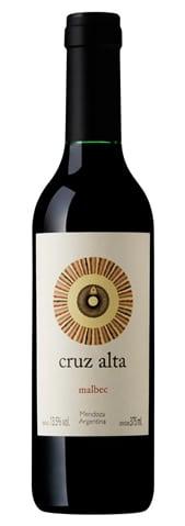 Rutini Wines Cruz Alta Malbec Argentino meia garrafa375 ml