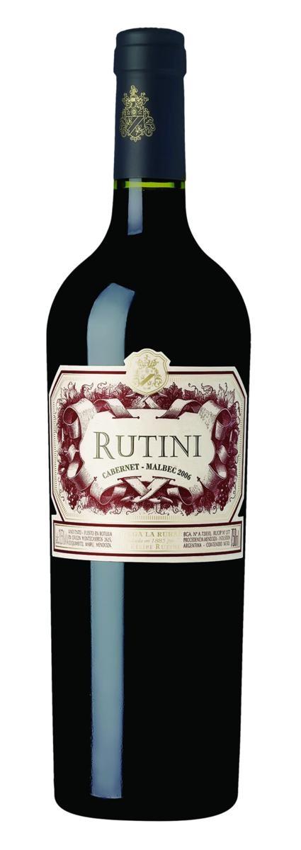 Vinho Rutini Cabernet Malbec Argentino